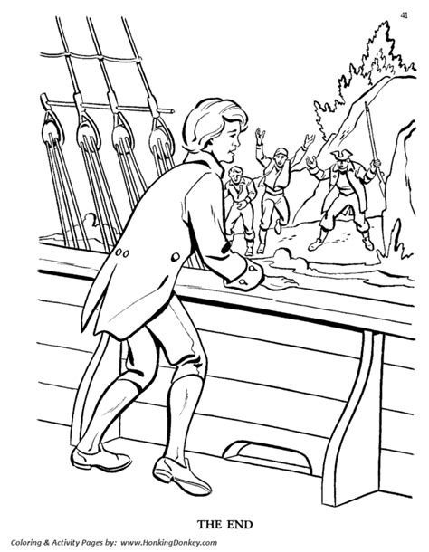 buried treasure coloring sheets coloring pages