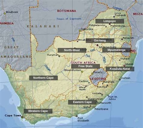 south africa map with cities map of south africa cities map of south africa pictures