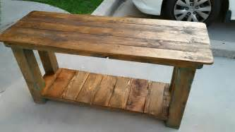 Pallet console table end table sofa table 99 pallets