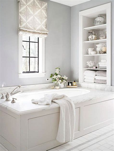 bathtub built in 18 shabby chic bathroom ideas suitable for any home