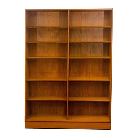 teak bookcase or bookshelf by poul hundevad at 1stdibs