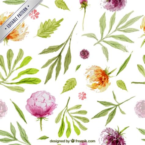 hand painted flower pattern hand painted flowers pattern vector free download