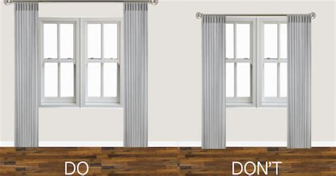 how low should curtains hang hang curtains high and wide to make your room look bigger