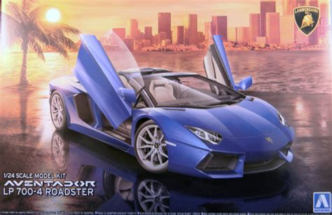 aoshima lamborghini aventador lp700 4 roadster aoshima 08669 1 24 aventador lp700 4 roadster kit first look