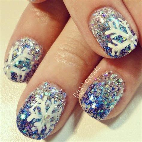 snowflake pattern for nails 20 cool snowflake nail art designs hative