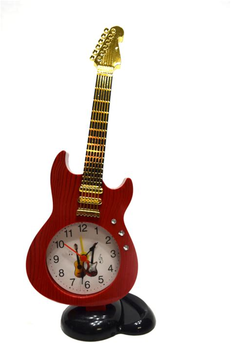 guitar alarm table clock for home or office instrument symbol home 2151a walmart
