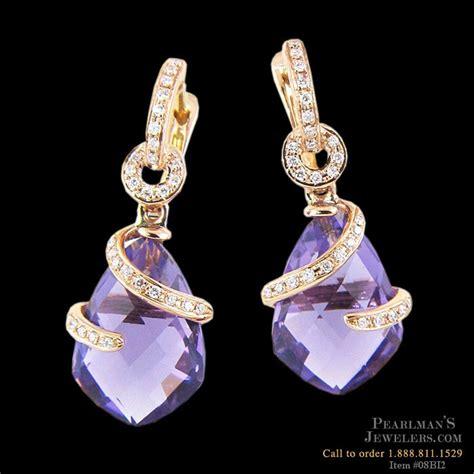 bellarri jewelry 18k gold amethyst and earrings