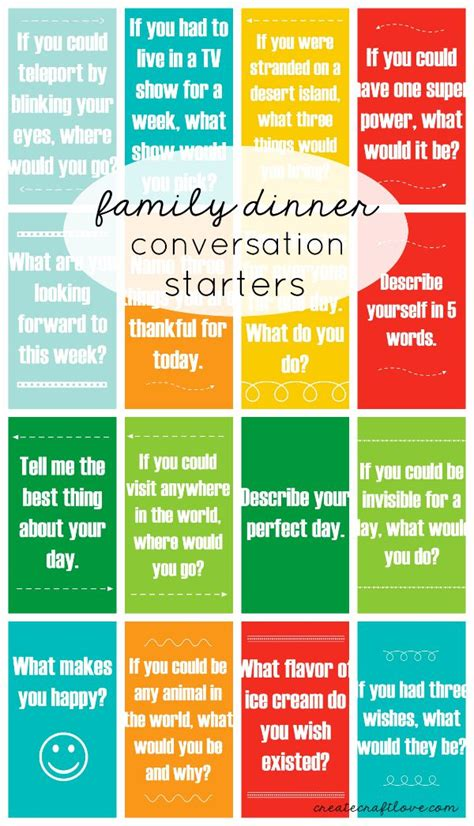 dinner conversation starters cards family dinner conversation starters