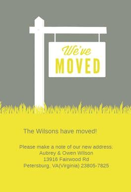 weve moved sign  moving announcement template