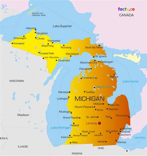 large map of michigan michigan political map michigan map