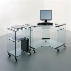Small Glass Office Desk Glass Portrait Computer Desk Dreamy Apartment Decoration Ideas