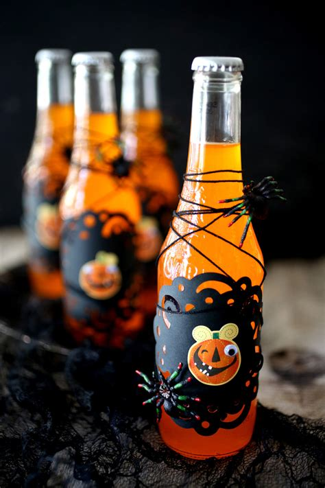 halloween drink orange soda potion bottles evite