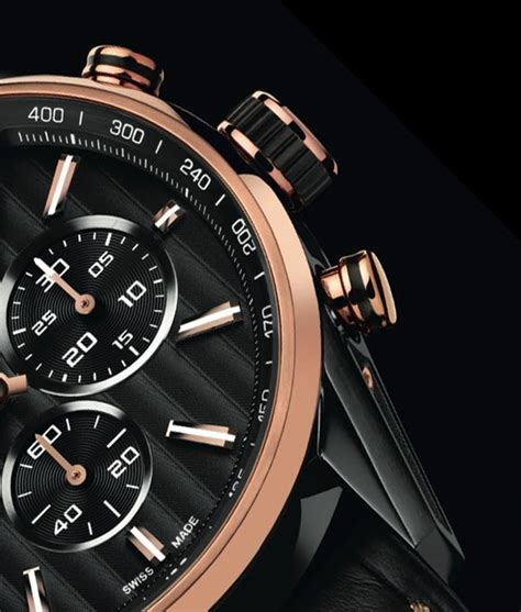 Tagheuer Cal 17 Rosegold Black tag heuer gold limited edition