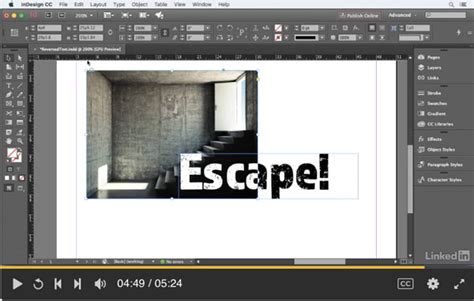 reverse layout indesign cc free lynda com video how to reverse text when partially