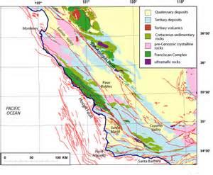 california coast ranges map geology and geophysics