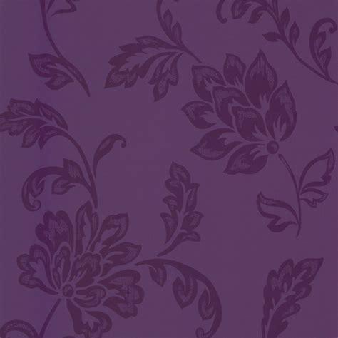 designer selection floral wallpaper purple
