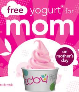 Tcby Yogurt Gift Card - mother s day 2013 deals and freebies