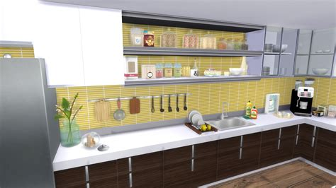 sims 4 yellow kitchen favorite cc creators