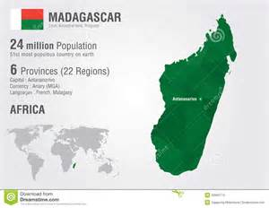 Madagascar World Map by Madagascar World Map With A Pixel Diamond Texture Stock