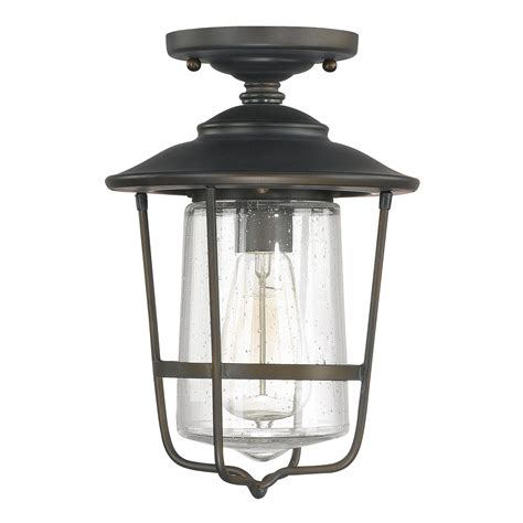 capital lighting 9607ob creekside bronze outdoor flush