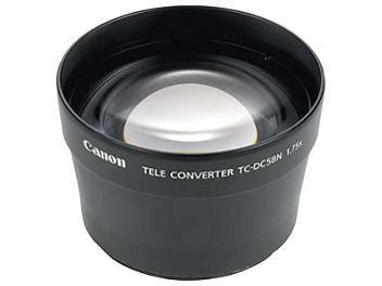 Lens Att 58mm canon tc dc58n 58mm 1 75x tele converter lens