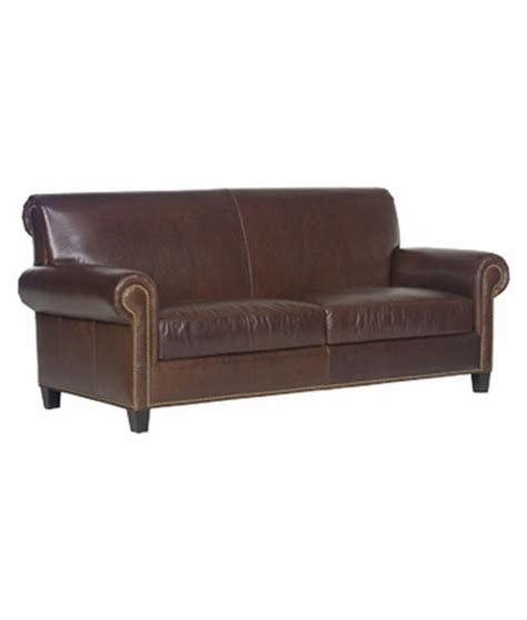leather sofa nailhead trim leather two seat roll back sofa w nail head trim