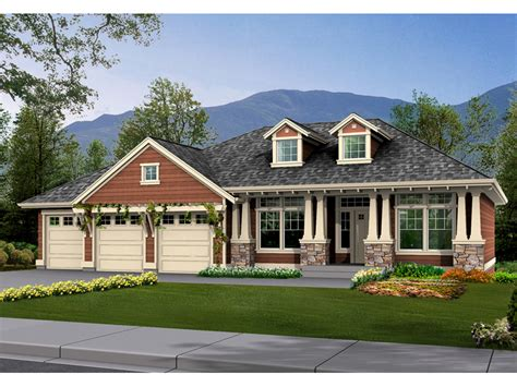 Arts And Crafts Dining Room Set Twingate Craftsman Home Plan 071d 0229 House Plans And More