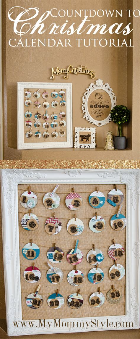 christmas countdown craft countdown calender tutorial my style