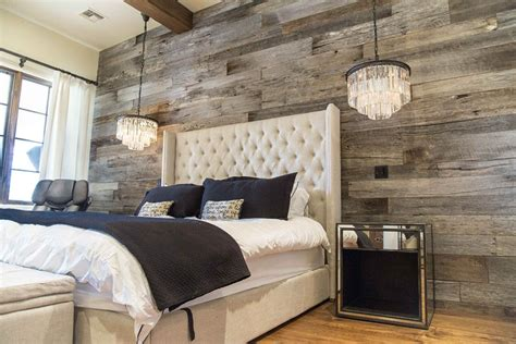wall coverings for bedrooms tobacco barn grey wood wall covering master bedroom