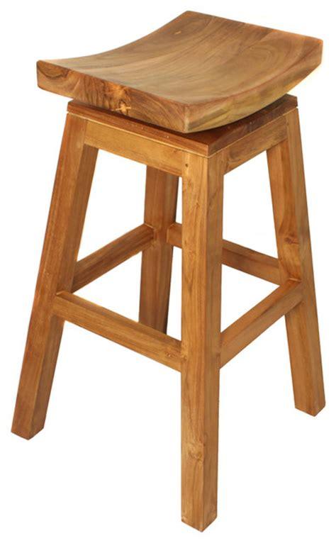 Teak Swivel Bar Stools by Teak Wood Swivel Bar Stool Teak Brown
