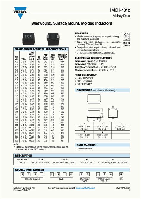 inductor in pdf imch1812er120k 7327401 pdf datasheet ic on line