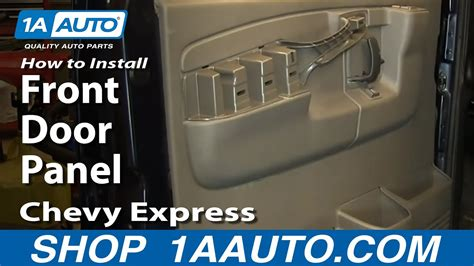 install remove front door panel chevy express gmc