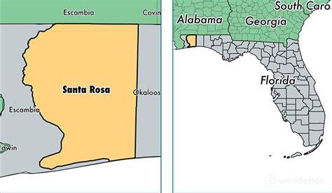 where is santa rosa florida on a map santa rosa county florida map of santa rosa county fl