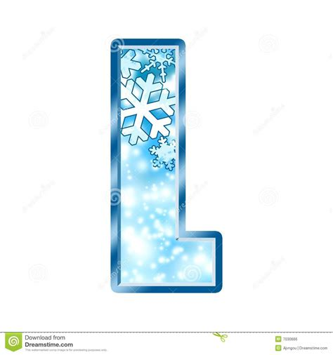 up letter to winter winter alphabet letter l royalty free stock image image