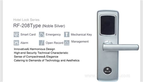 Timed Door Alarm by Rf 208 Automatic Door Security Card Entry Access Hotel