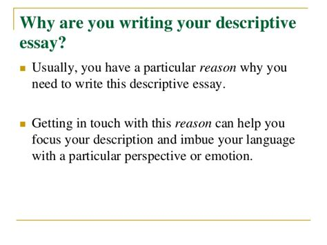 How To Write An Essay The 122 Way by How To Write A Descriptive Essay
