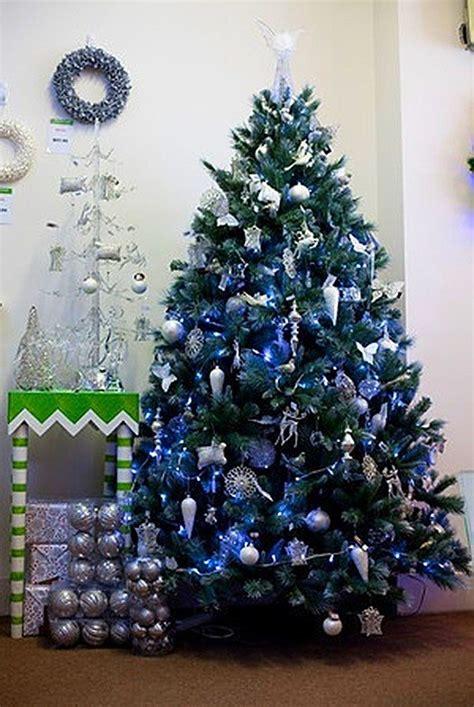 decoracion de arboles de navidad 2016 azul