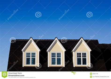 Dormers Only three dormer windows royalty free stock photo image
