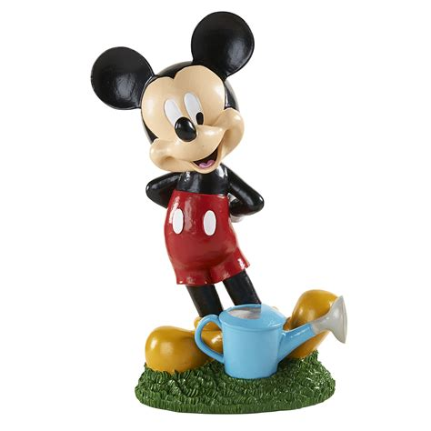 disney garden statue mickey with watering can outdoor living outdoor decor lawn ornaments