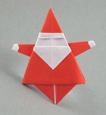 Origami Santa Claus - origami ornaments santa claus and