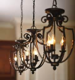 Wrought Iron Kitchen Lighting Three Wrought Iron Hanging Pendant Light Fixtures Handler Kitchen Sinks