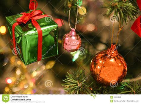 christmas decorations or christmas tree light prepare for