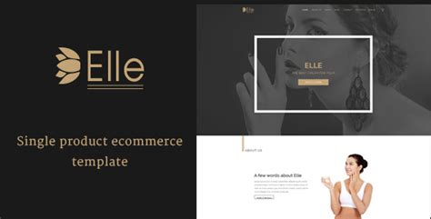 Elle Single Product Ecommerce Psd Template Theme For U Single Product Ecommerce Website Template
