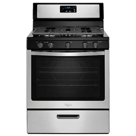 whirlpool wfg505m0bs 5 1 cu ft gas range w griddle