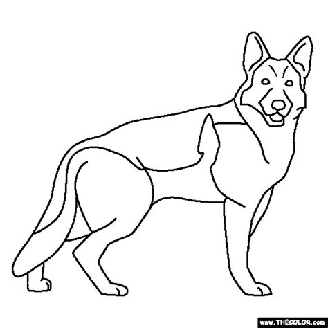 coloring pages of german shepherd coloring pages starting with the letter g page 2