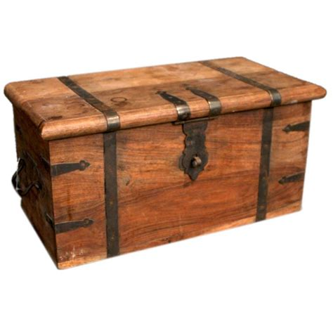 wooden trunk antique wooden trunk at 1stdibs