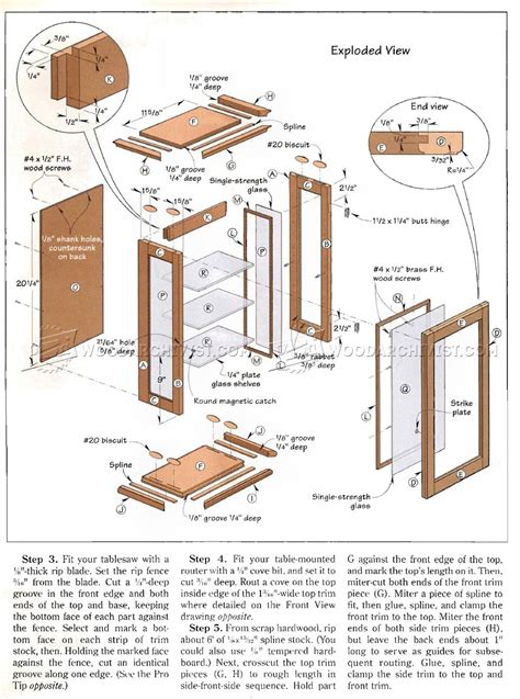 Large Display Cabinet Plans