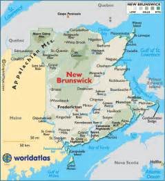 maps new brunswick canada new brunswick canada large color map