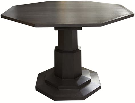 Charcoal Finished Wooden Octagonal Table   Mecox Gardens