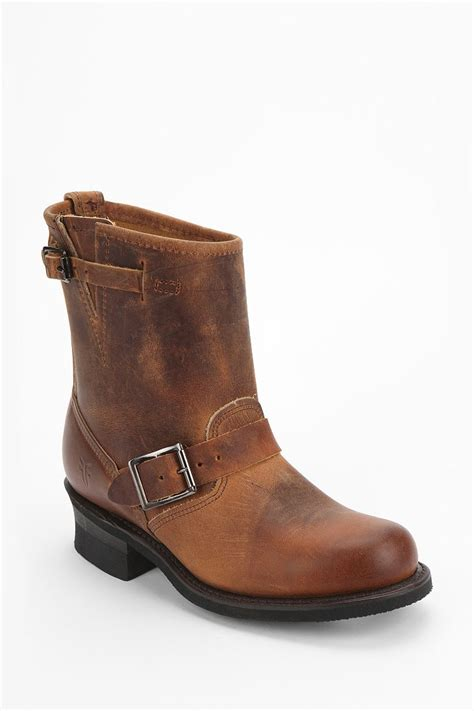 frye ankle boots frye engineer ankle boot in brown chocolate lyst